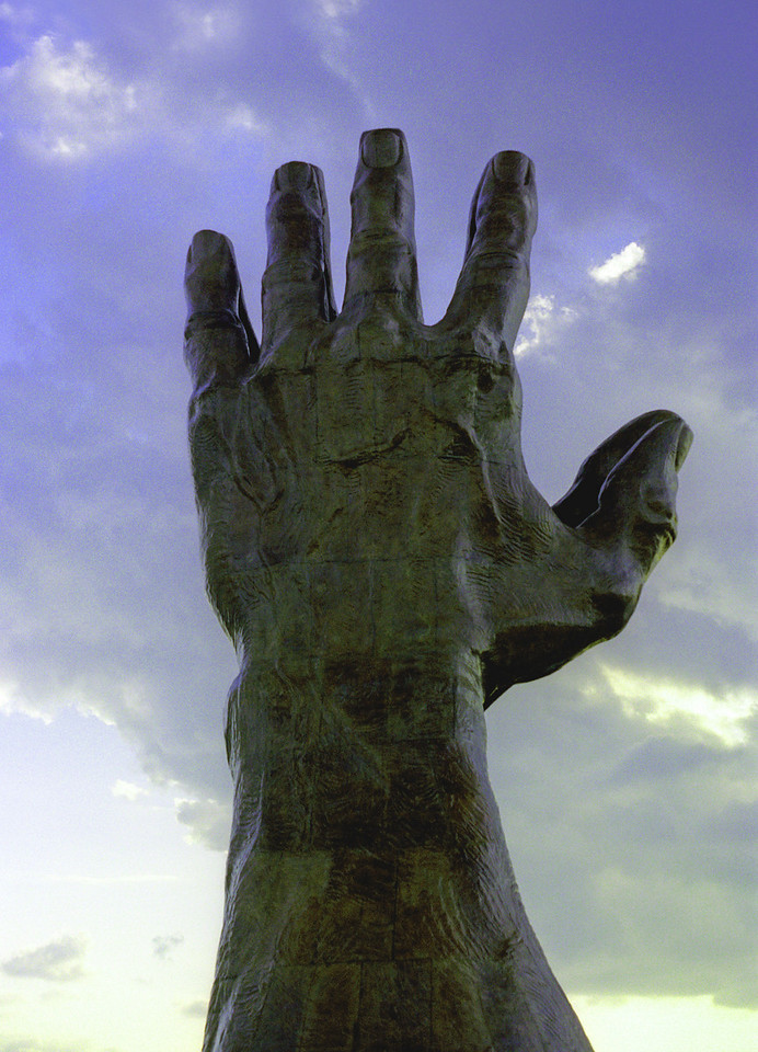Praying Hands Sculpture at ORU