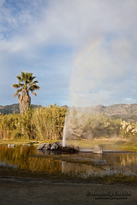 "Old Faithful Geyser Of California, Calistoga, USA.  The Old Faithful Geyser of California is one of three geysers in the world with the designation ""old faithful."" These are the geysers that perform at regular intervals."