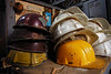 We're coming back !<br /> Abandoned helmets in an abandoned shed at Sulina Shipyard. 2005