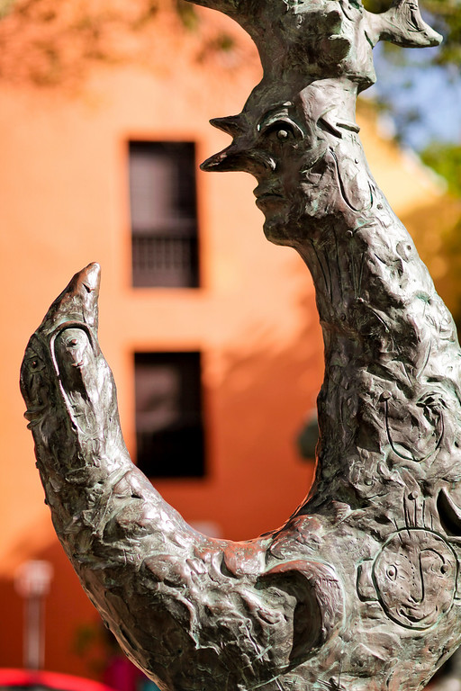 One of several statues in the plaza in front of the El Convento hotel where we stayed.    Everything in Old San Juan is colorful and these whimsical elements are fun.