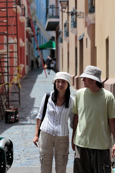 This was a couple we ran into several times.  They were staying at the El Convento also.  I Wanted to give them this picture but then we never ran into them again.