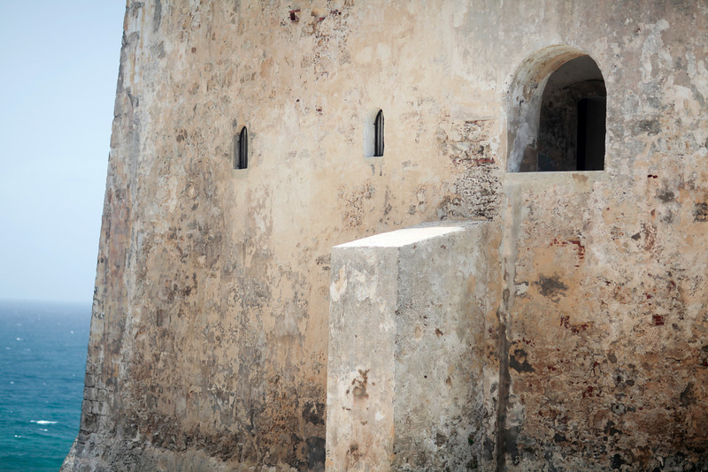 This is the outer wall of the San Cristobal Fortress in Old San Juan.  The scale is hard appreciate here.  I loved the colors and play of shapes and textures.