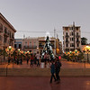 Evening in the Plaza decked for the Holidays