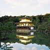 Kinkaku-ji (The Temple of the Golden Pavilion).<br /> Kyoto, Japan.<br /> January 1998.