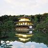 Kinkaku-ji (The Temple of the Golden Pavilion).<br /> Kyoto, Japan.<br /> January 1998.