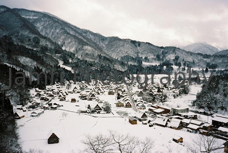 Shirakawa-go, Gifu-ken, Japan.<br /> January 1998.