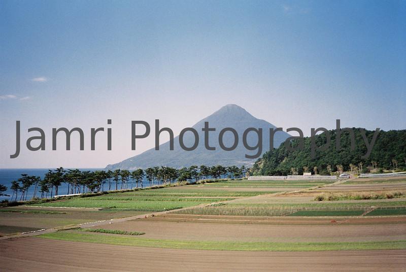 Kaimon-dake from near Ibusuki, Kagoshima Prefecture, Japan.<br /> October 1999.