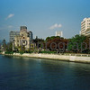 Peace Dome and River, Hiroshima, Japan.<br /> October 1999.