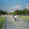 Peace Park, Hiroshima, Japan.<br /> October 1999.