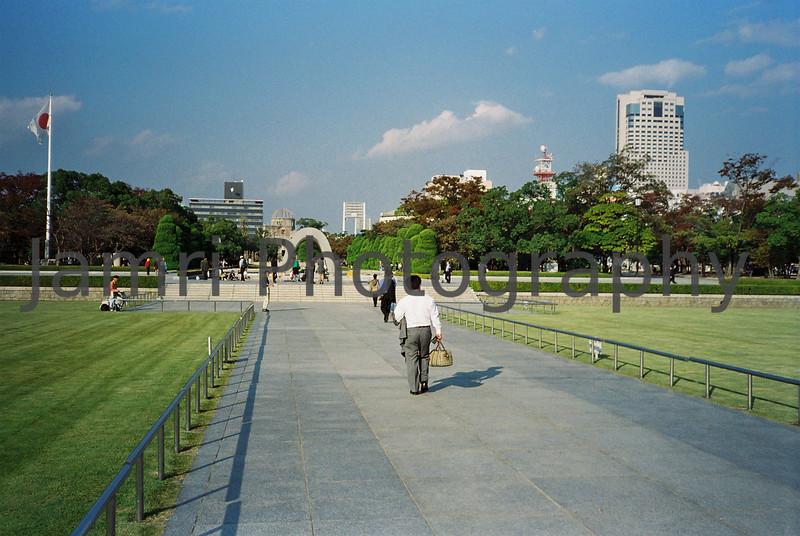 Peace Park, Hiroshima, Japan.<br /> October 1999.