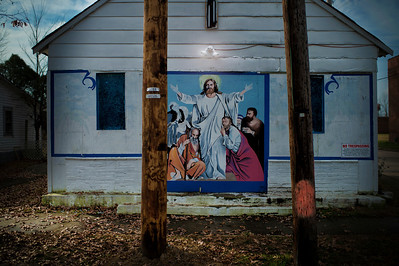 Jesus on a House