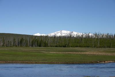 Snow capped Gallatin Range, Mt. Holmes.