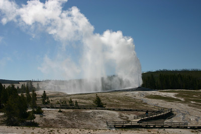 Old Faithful from the back side trail