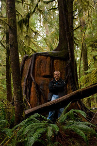 Daniel at the Quinault rain forest