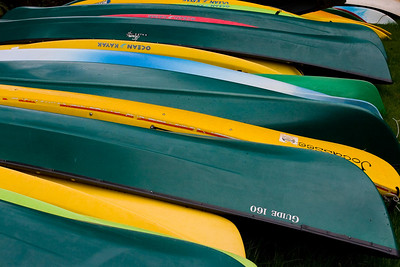 Canoes at Quinault Lodge