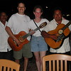 When eating in Cozumel or Playa de Carmen, there are always musicians strolling by. These two guys played for use at one of the restaurants in San Miguel, so we had to have our picture taken with them