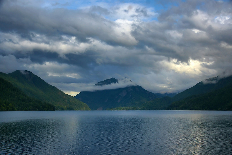 Our first view of the Lake, late evening.