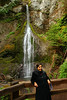 Karishma poses in front of Marymere falls.