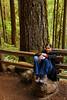 Karishma takes a break on the trail.