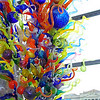 "<b><i>""Inside & Out""</i> Dale Chihuly </b> <br> glass and steel, 29.5 x 25.5 x 12.5 ft.<br>  Josyln Art Museum </br> Omaha Nebraska"