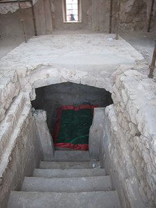 The tomb.  Some people still light candles and leave offerings to Bibi Maryam here.