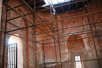 Restoration work on the building.