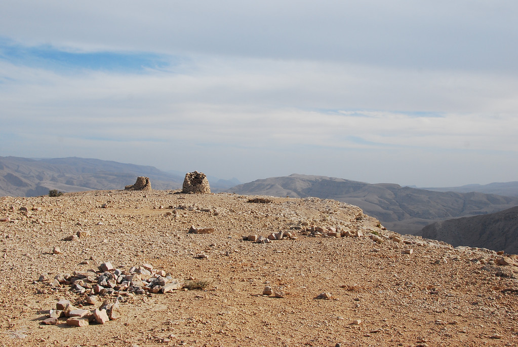 The remains of two of the tombs.  It was so quiet up there, the only sound was the wind.