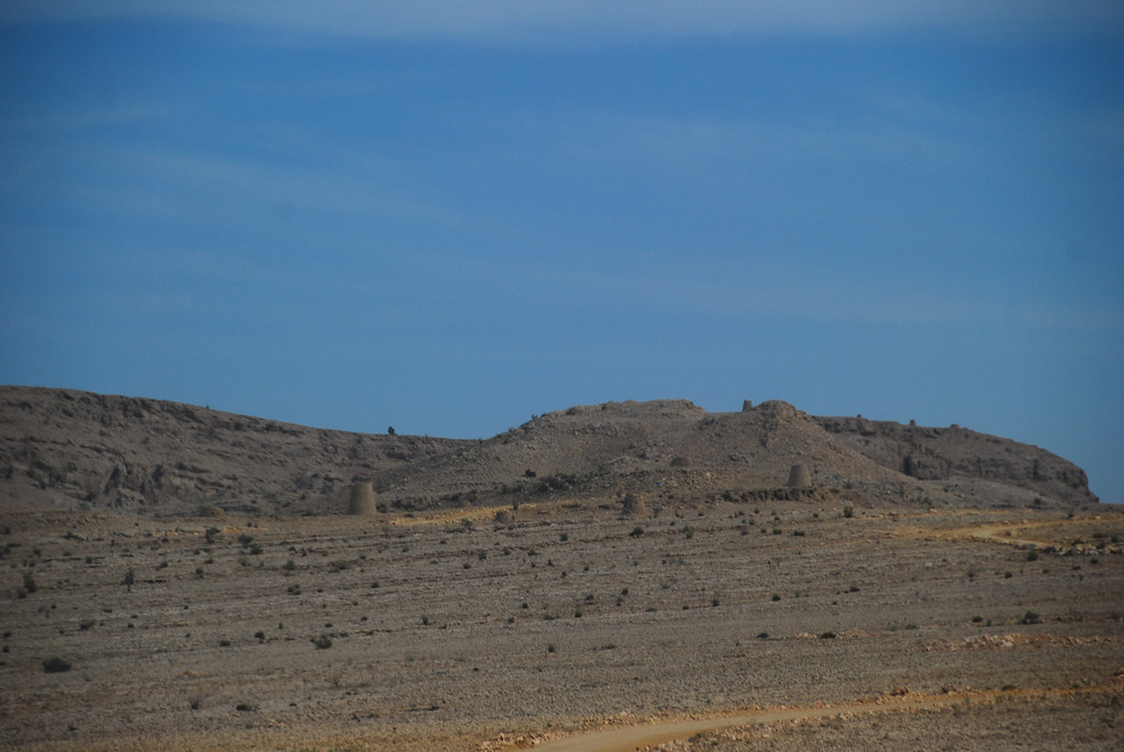 The first view of the tombs, standing like sightless guardians on the hills.