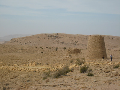 Two of the tombs, one in excellent condition, looking out over the Shir plateau.