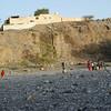 Kids playing football at the new village, Wadi Ghul