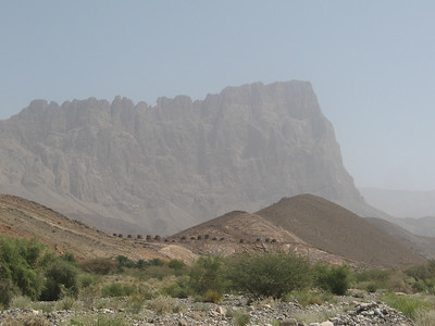 The Al Ayn tombs with Jebel Misht in the background.
