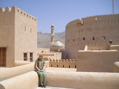 On the roof of Nizwa fort.