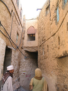 Entrance to Mizfat. The gourds in the window are full of water and are put there to keep cool.
