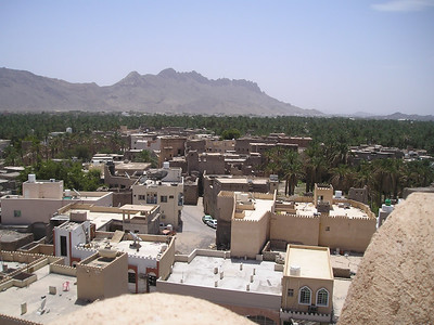 View from the battlements of Nizwa fort.