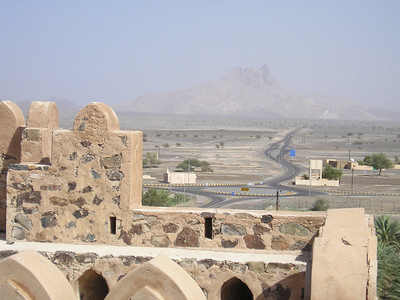 View from the walls of Jabrin Castle.