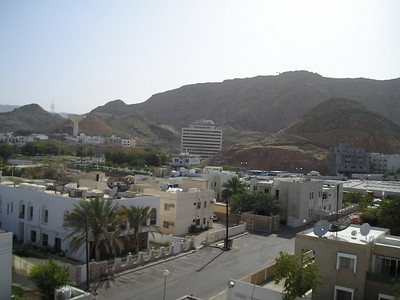 The view from my hotel room in Muscat.