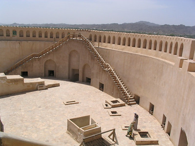 Interior of Nizwa fort round tower