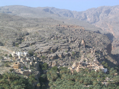 Mizfat, a village built into the side of the cliff.