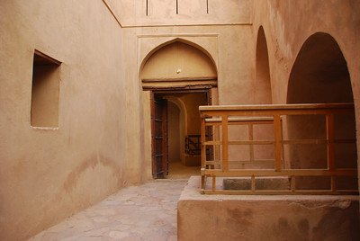 Interior of Rustaq Castle, Oman