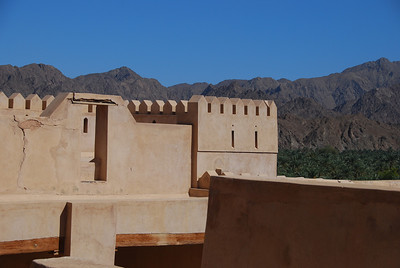 On the roof at at Rustaq Castle.