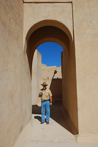 Colin at Rustaq Castle.