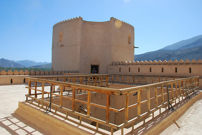 On the roof at Rustaq Castle.