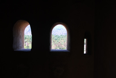 View out to the date plantations.