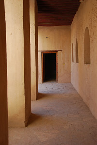 Interior view Rustaq Castle.
