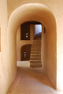 Interior at Rustaq Castle.