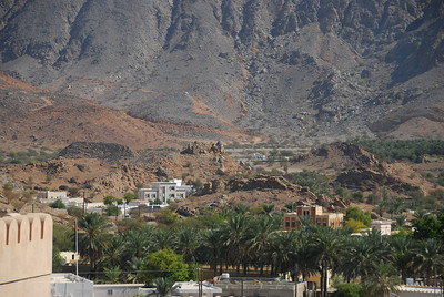 View from the walls of Nakhal Fort, Oman.
