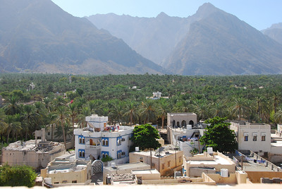 Taken from the walls of the fort over the valley with the Hajjar Mountains beyond.