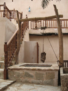 Taqah Castle - interior courtyard