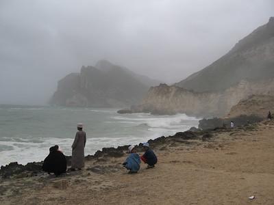 Clouds, rain, mad surf, its just like home.