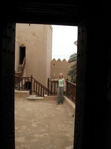 On the battlements at Taqah Castle